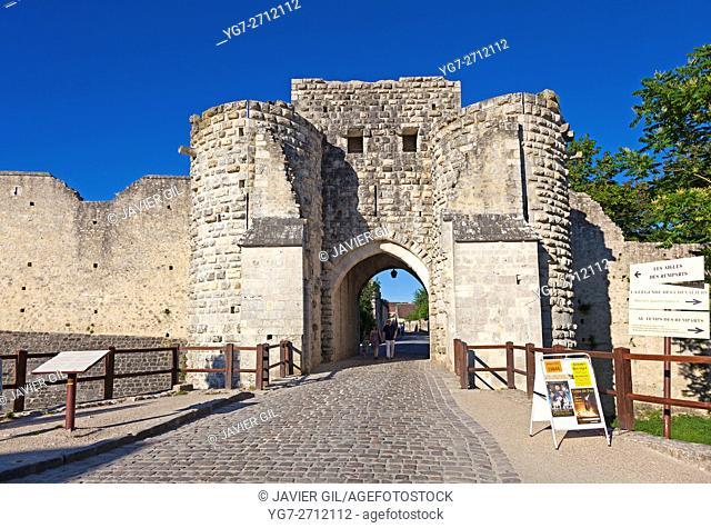 Walls in the city of Provins, Seine-et-Marne, Ile-de-france, France
