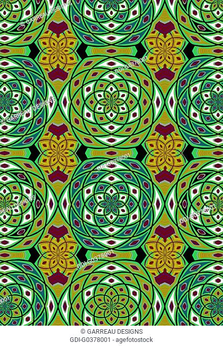 Green geometric pattern
