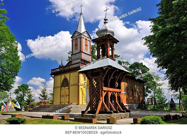Wooden Church of the Assumption of the Blessed Virgin Mary. Krzywosadz, Kuyavian-Pomeranian Voivodeship, Poland