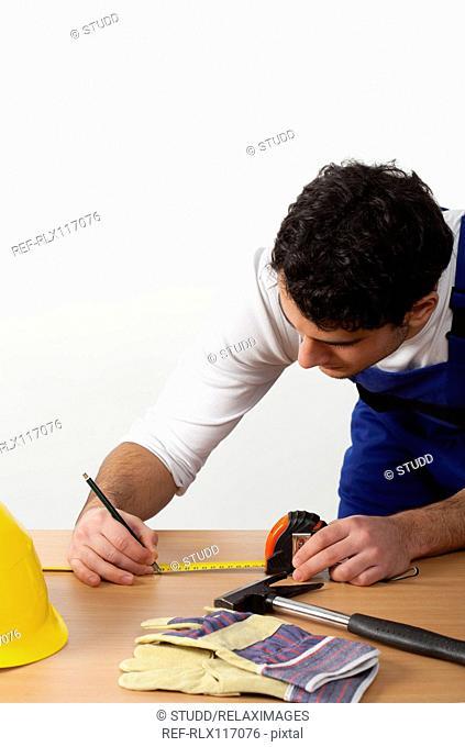 man tools construction worker overalls workman DIY
