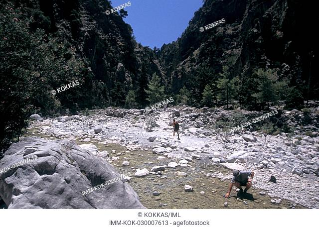 Samaria gorge, tourists , Greece, Crete, Hania South