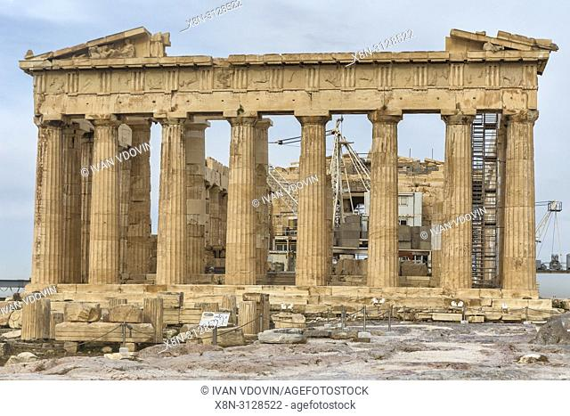 Parthenon temple (432 BC), Athens, Greece
