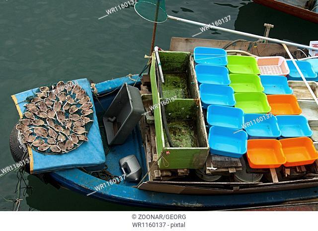 on a fishing boat, Sai Kung, Hong Kong
