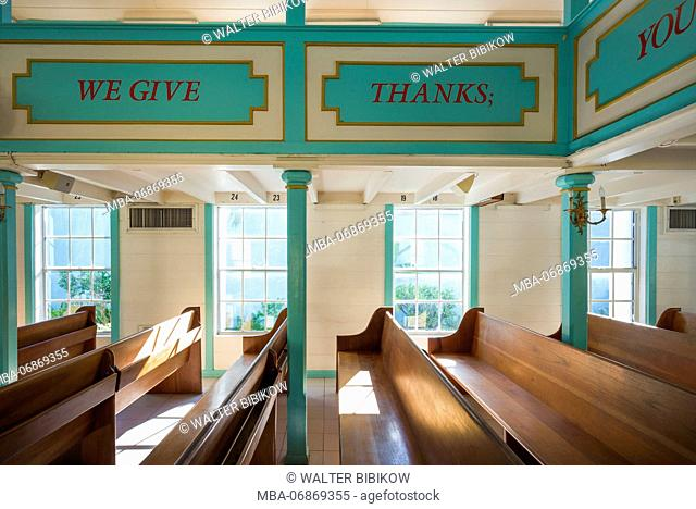 Netherlands, Sint Maarten, Philipsburg, Philipsburg Methodist Church, interior