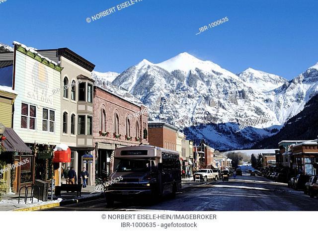 Mainstreet in Telluride, Colorado, USA