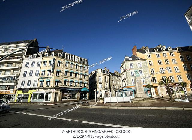 Monument to Armand de Briqueville, Quai de Caligny, Cherbourg-Octeville, Manche Department, Normandy, France, Europe