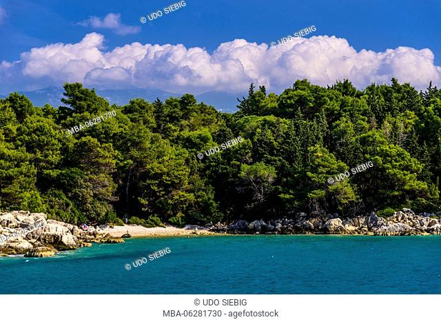 Croatia, Kvarner Gulf, Rab, Kalifront peninsula, Suha Punta, bathing bay Matovica