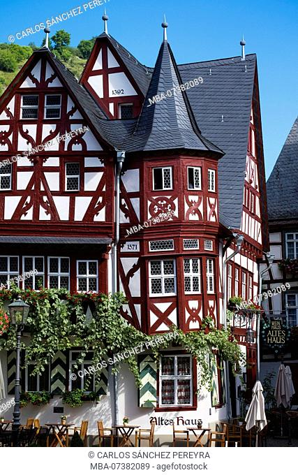 Weinhaus Altes Haus restaurant, Bacharach, Rhine Gorge, Rhineland-Palatinate, Germany, Europe