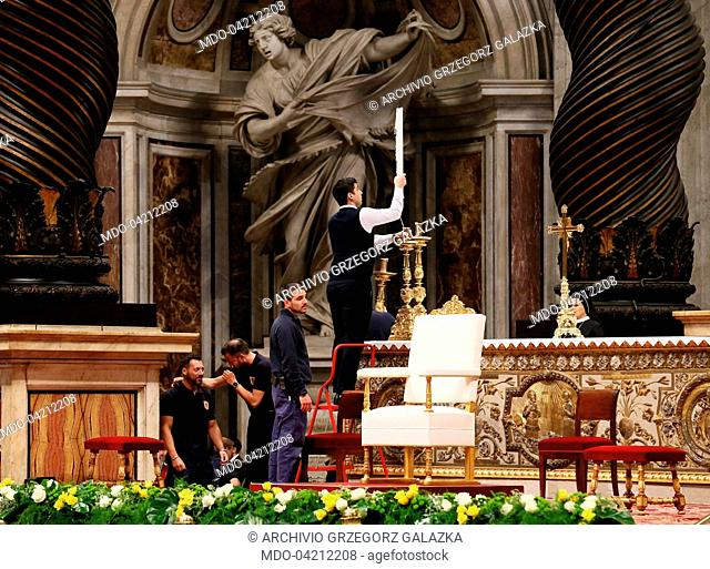 Holy Mass celebrated by Pope Francis (Jorge Mario Bergoglio) at Saint Peter's Basilica with the ordination rite of ten new priests