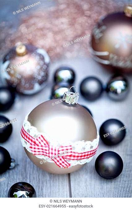 blau silberne weihnachtsdekoration christbaumkugel