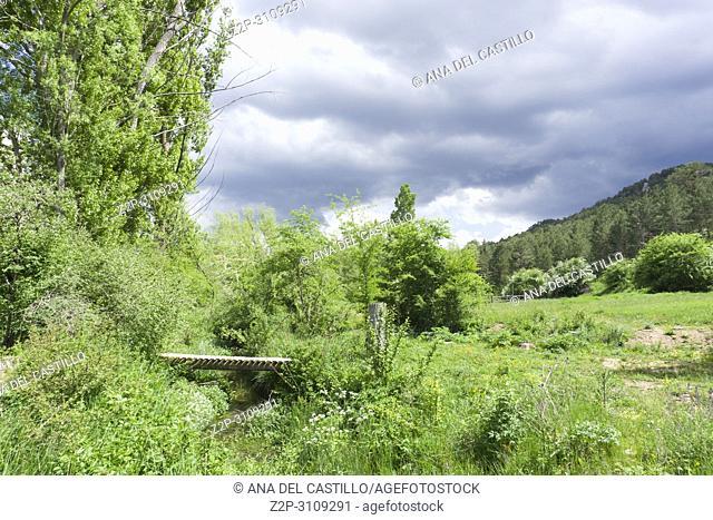 Spring Gudar mountains Teruel Aragon. Spain