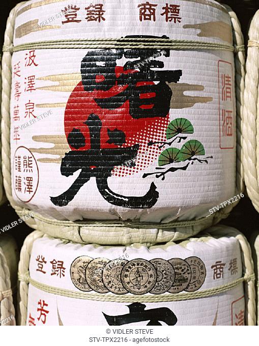 Asia, Barrels, Holiday, Honshu, Japan, Landmark, Sake, Taruzake, Tokyo, Tourism, Travel, Vacation