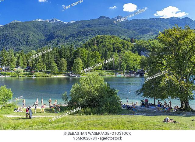 Lake Bohinj, Triglav National Park, Ribcev Laz, Upper Carniola, Slovenia, Europe