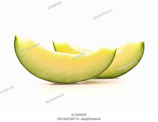 cantaloupe melon on white background