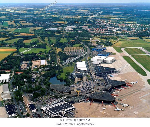 Hannover airport, terminal and airstrip , Germany, Lower Saxony, Hanover
