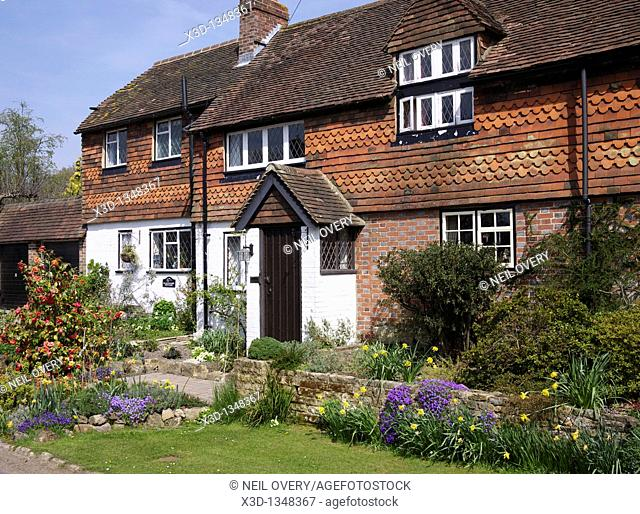 Typical English Rural Cottage, Warninglid, Sussex, England