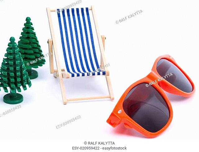 Deck Chair and sunglases