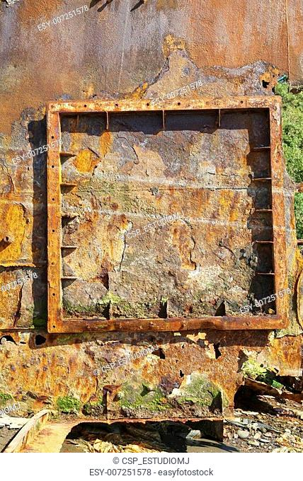Rust and wood texture
