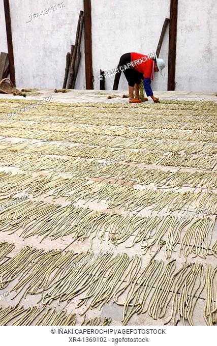 Drying vegetables, Quingyan, Quingyan ancient town, Guizhou, China