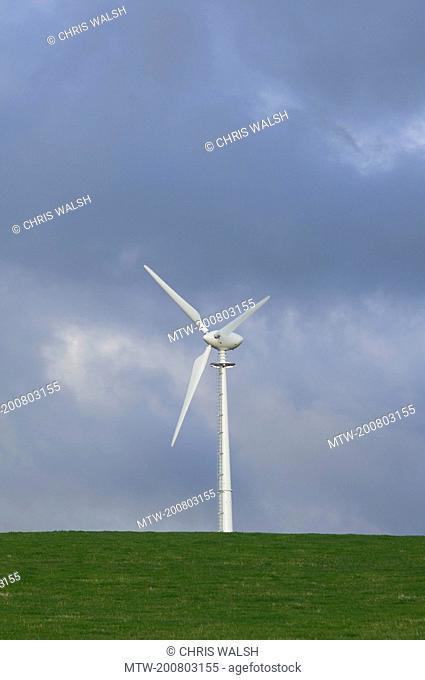 Wind turbine farm renewable green energy