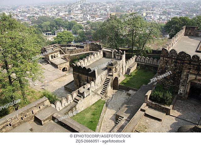 Inner view of Jhansi Fort (Jhansi ka Kila) fortress, Jhansi, Uttar Pradesh, India
