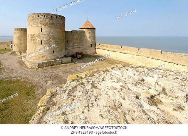 The inner part of fortress Akkerman white rock, white fortress, Belgorod-Dnestrovskiy, Ukraine, Eastern Europe