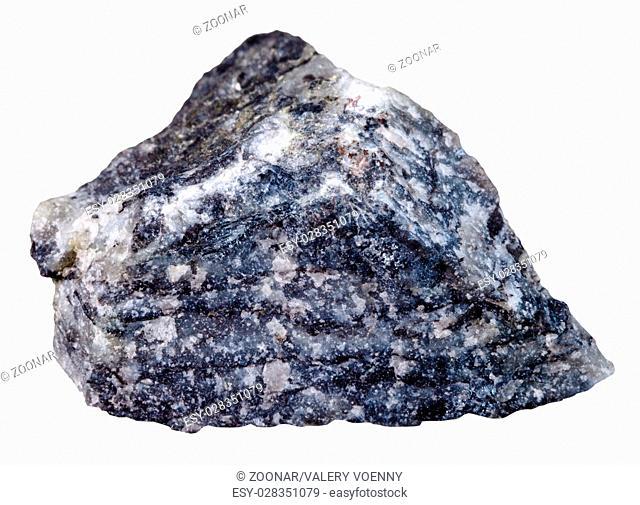stibnite (antimonite) mineral stone isolated