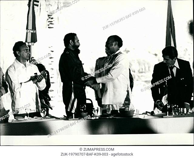 Jul. 07, 1979 - Castro Visits Cozumel Island Mexico: Fidel Castro of Cuba made an official visit to Cozumel Island, Mexico