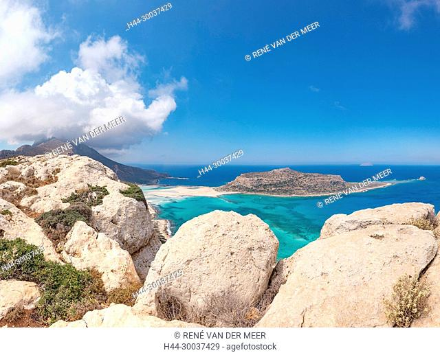 The Balos Lagoon with Cape Tigani