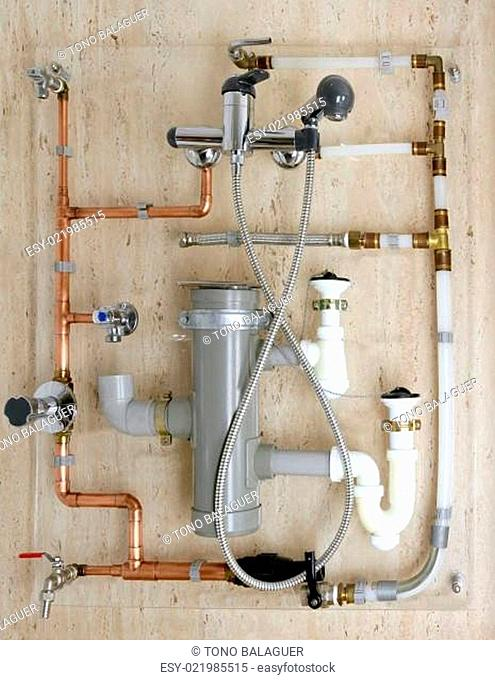 copper plumbing installation and polyethylene pvc