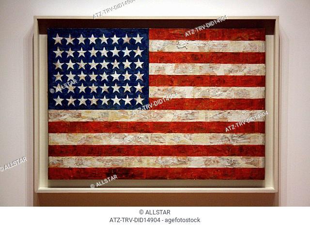 JASPER JOHNS' FLAG; MUSEUM OF MODERNT ART, NEW YORK , USA; 12/10/2010
