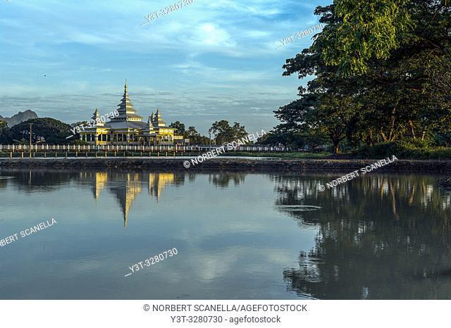 Myanmar (formerly Burma). Kayin State (Karen State). Hpa An. Kyauk Kalap or Kyaik Ka Lat monastery