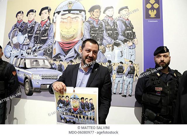 Palazzo delle Esposizioni: 2019 Polizia di Stato calendar Presentation. In the picture Matteo Salvini, Interior Minister. Rome, November 12th, 2018