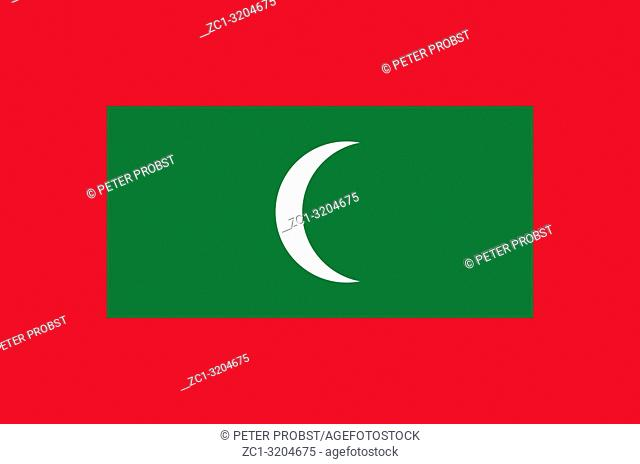 National flag of the Repblic of Maledives