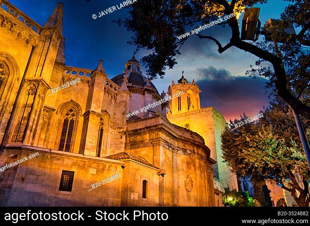 Cathedral, Pla de La Seu, Tarragona City, Catalonia, Spain, Europe