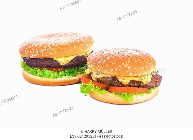 Nahaufnahme eines Burgers, freigestellt