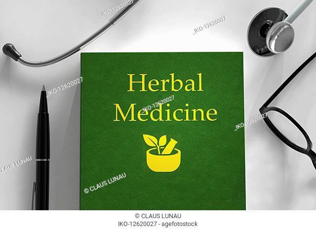 Medical book about herbal medicine
