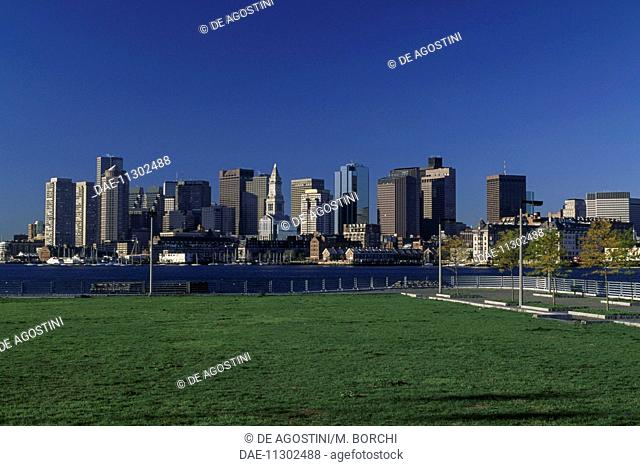 View of Boston downtown, Massachusetts, United States of America
