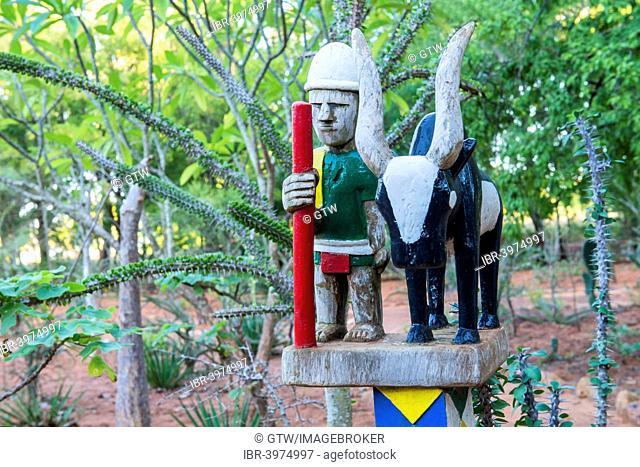 Aloalo, traditional funeral pole sculpture, Berenty, Tolagnaro, Toliara Province, Madagascar