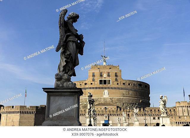 Castel Sant'Angelo view from the bridge Rome Italy