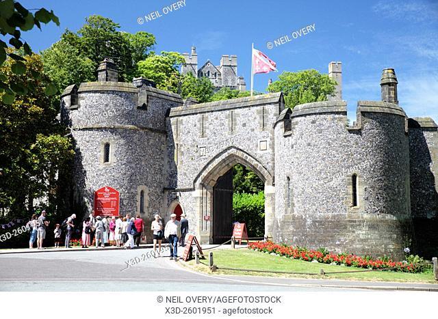 Entrance to Arundel Castle, Sussex, England