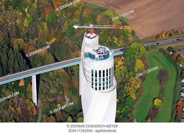 Aussichtsplattform auf dem Aufzugstestturm von ThyssenKrupp Elevator in Rottweil