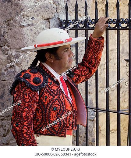 e7f52dfc158 A PICADOR at a bull fight in the Plaza de Toros - SAN MIGUEL DE ALLENDE