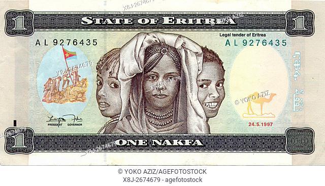 Eritrean money, nakfa, Eritrea
