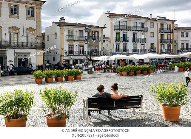 Praca do Giraldo, Evora, Alentejo, Portugal, Europe
