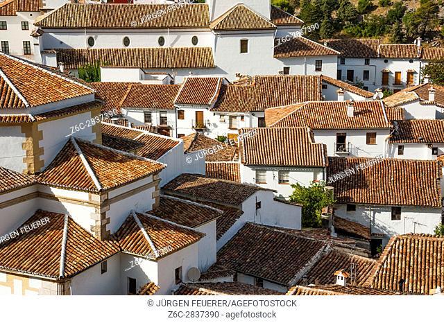 mountain village Grazalema, White Towns of Andalusia, Sierra de Grazalema Natural Park, province of Cádiz, Spain