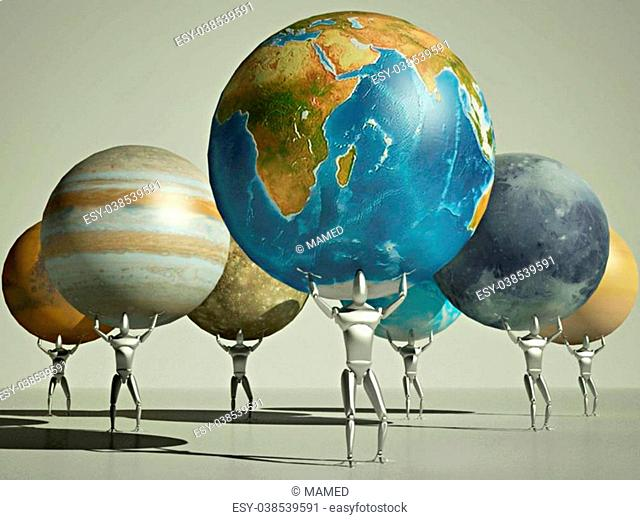 robotization planet earth in the not distant future, the symbolism of requiring the elimination of human labor