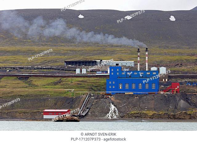 Power station at Barentsburg, Russian coal mining settlement at Isfjorden, Spitsbergen / Svalbard, Norway
