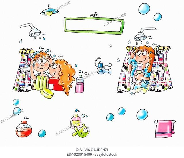 bambini,paesaggi, animali, illustrazioni,bambini