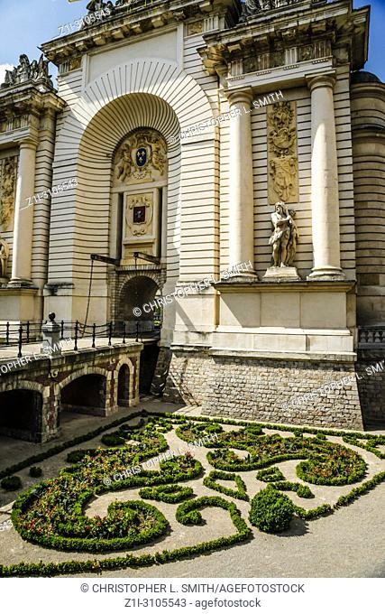 The Port du Paris - Paris Gate commemorating the capture of the city by Louis XVI in Lille France